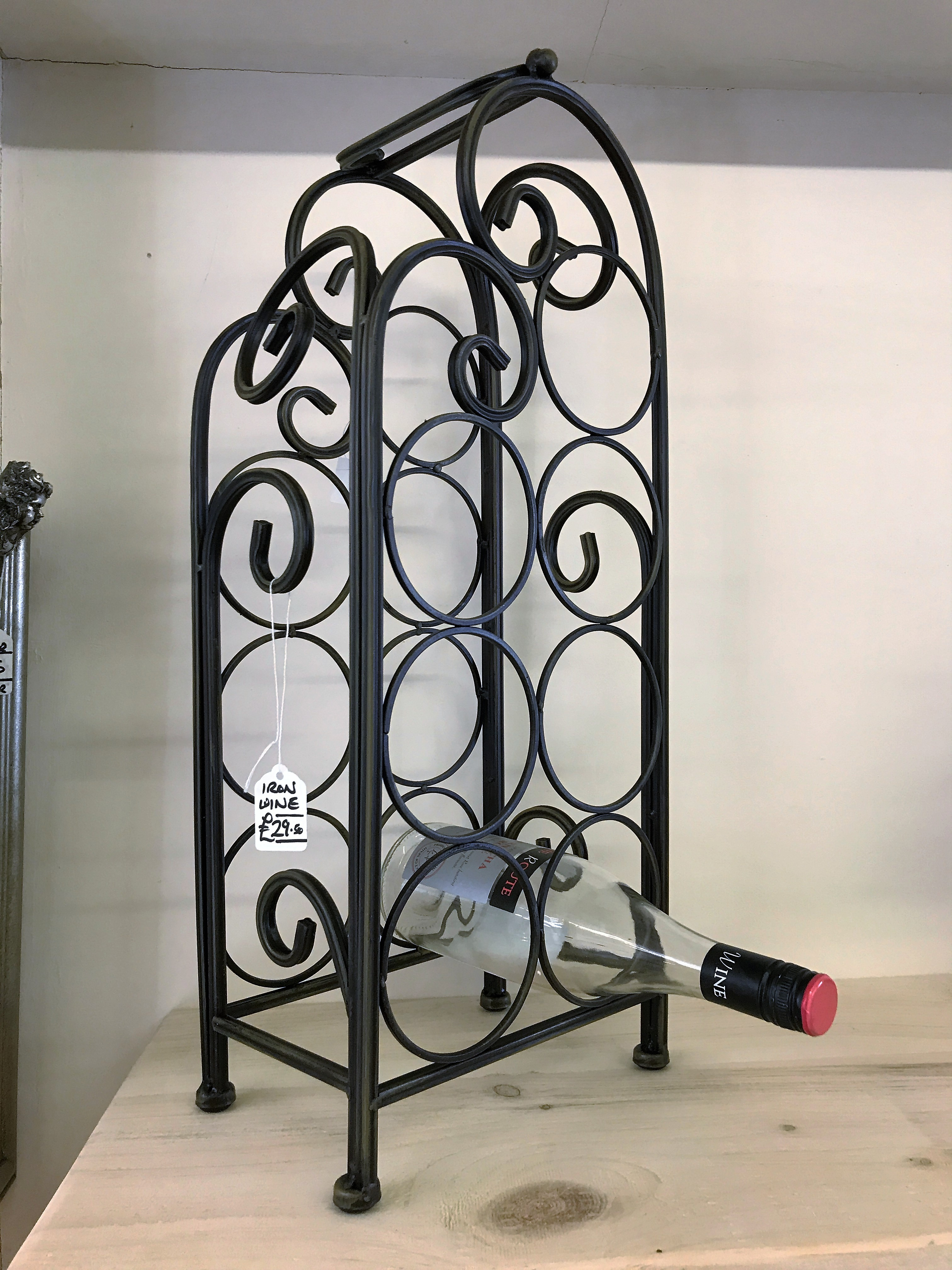 metal walmart black iron monarch com bcae rack h home wine bar ip glass and bottle